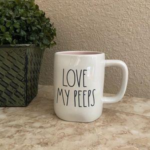 Rae Dunn LOVE MY PEEPS mug